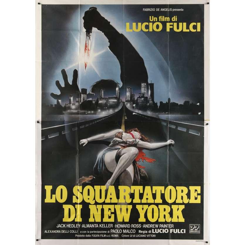 THE NEW YORK RIPPER Original Movie Poster - 39x55 in. - 1982 - Lucio Fulci, Jack Hedley