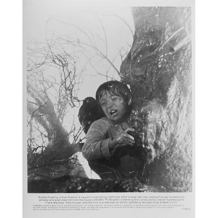 POLTERGEIST Photo de presse N4 - 20x25 cm. - 1982 - Heather o'rourke, Steven Spielberg