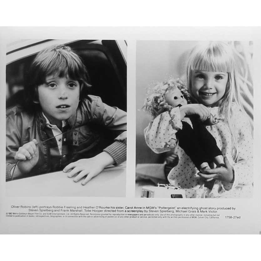 POLTERGEIST Photo de presse N27 - 20x25 cm. - 1982 - Heather o'rourke, Steven Spielberg