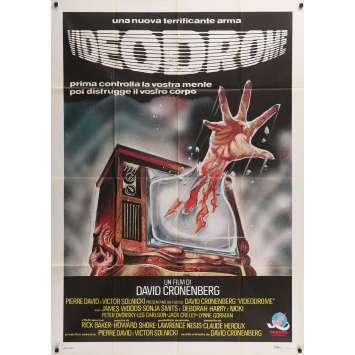 VIDEODROME Original Movie Poster - 39x55 in. - 1983 - David Cronenberg, James Woods