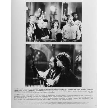 PRINCE DES TENEBRES Photo de presse N02 - 20x25 cm. - 1987 - Donald Pleasence, John Carpenter