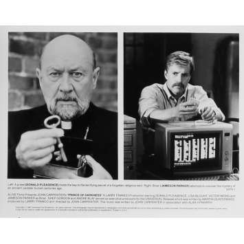 PRINCE DES TENEBRES Photo de presse N01 - 20x25 cm. - 1987 - Donald Pleasence, John Carpenter