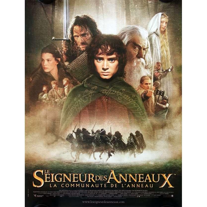 LE SEIGNEUR DES ANNEAUX Style B Affiche de film 40x60 - 2001 - Elijah Wood, Peter Jackson