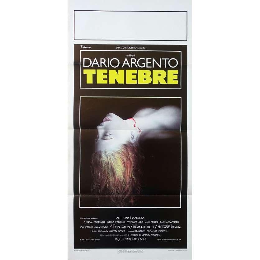 TENEBRES Affiche de film 33x71 cm - 1982 - John Saxon, Dario Argento