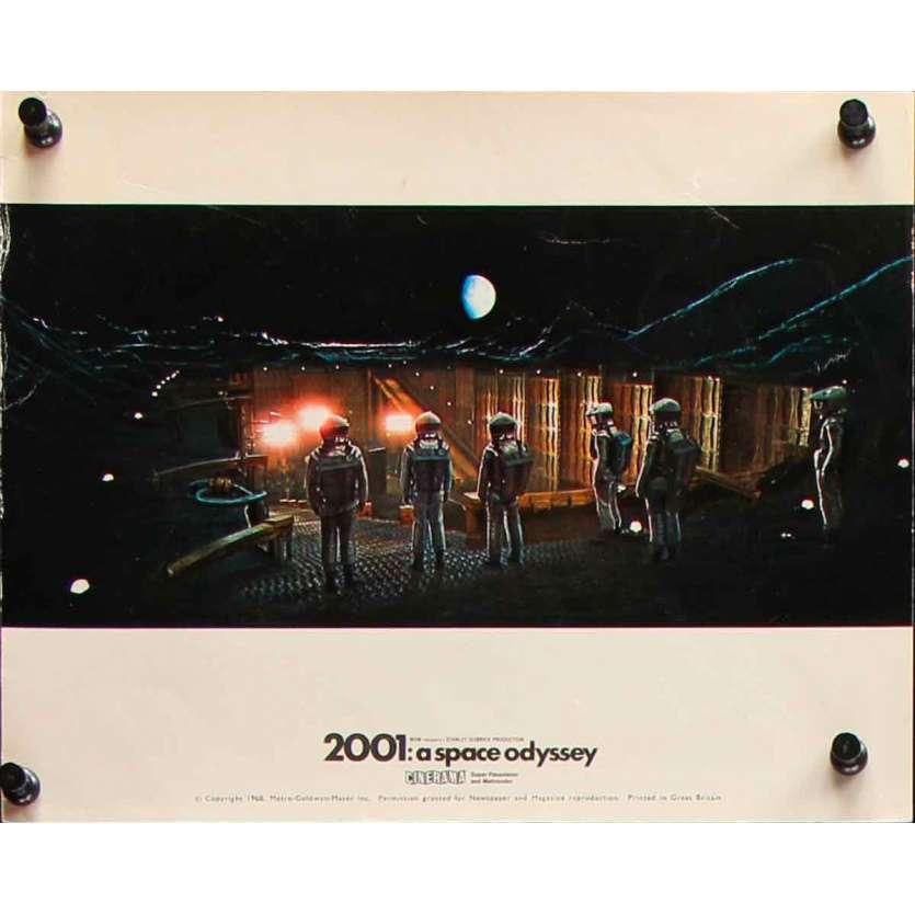 2001 A SPACE ODYSSEY Original Lobby Card Cinerama N03 - 8x10 in. - 1968 - Stanley Kubrick, Keir Dullea