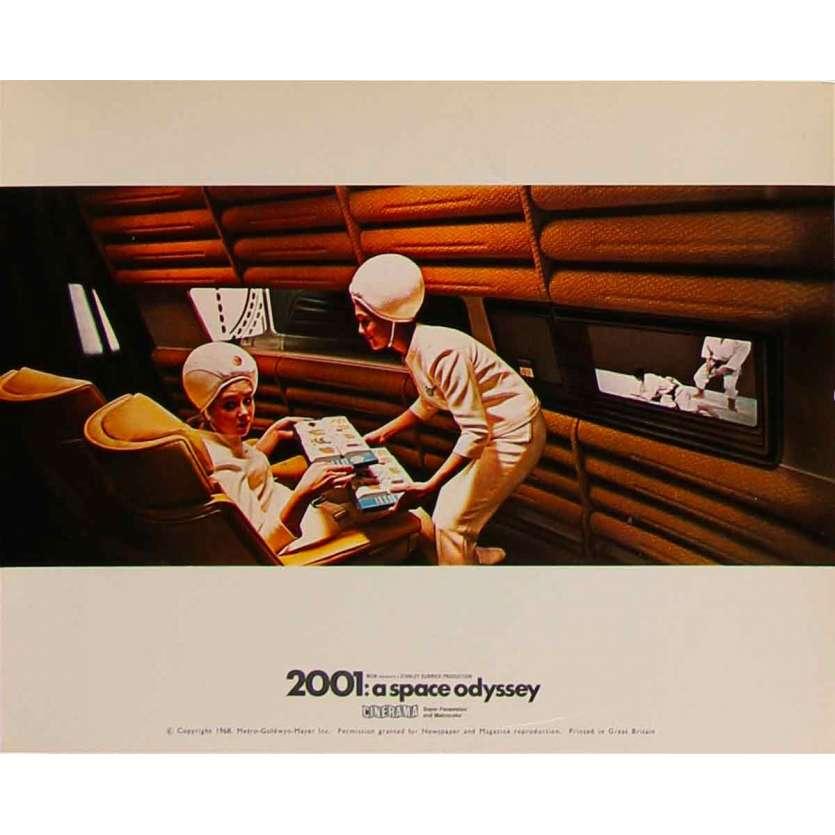 2001 A SPACE ODYSSEY Original Lobby Card Cinerama N07 - 8x10 in. - 1968 - Stanley Kubrick, Keir Dullea