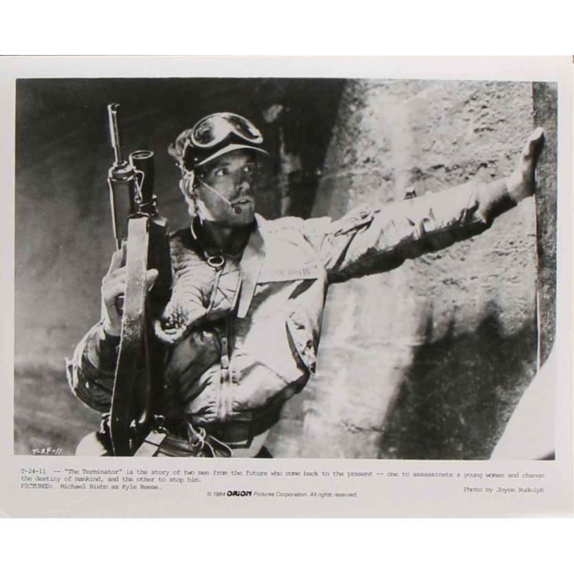 TERMINATOR Photo de presse T-24-11 - 20x25 cm. - 1983 - Arnold Schwarzenegger, James Cameron