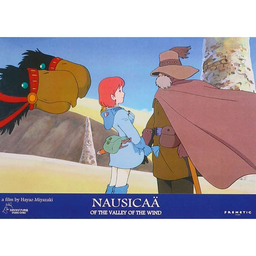 NAUSICAA Original Lobby Card N01 - 9x12 in. - 1984 - Hayao Miyazaki, Sumi Shimamoto