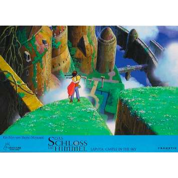 CASTLE IN THE SKY Original Lobby Card N01 - 9x12 in. - 1986 - Hayao Miyazaki, Anna Paquin