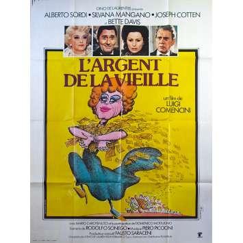 L'ARGENT DE LA VIEILLE Affiche de film 120x160 - 1972 - Alberto Sordi, Luigi Comencini