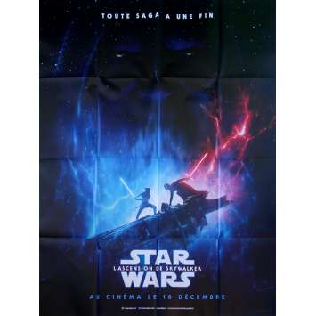 STAR WARS - L'ASCENSION DE SKYWALKER 9 IX Affiche de film – Duel style - 120x160 cm. - 2019 - Daisy Ridley, J.J. Abrams