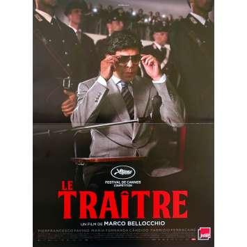 IL TRADITORE / THE TRAITOR Original Movie Poster - 15x21 in. - 2019 - Marco Bellocchio, Pierfrancesco Favino
