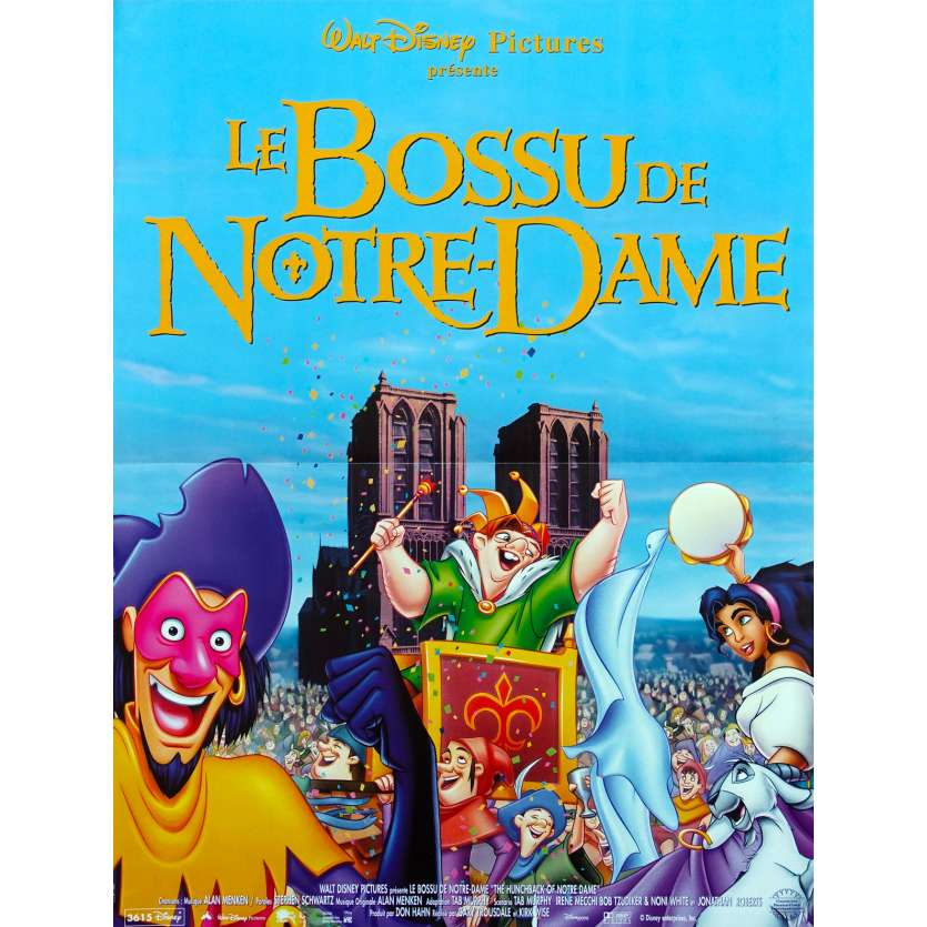 HUNCHBACK OF NOTRE DAME French Movie Poster 15x21 '96 Walt Disney Classic
