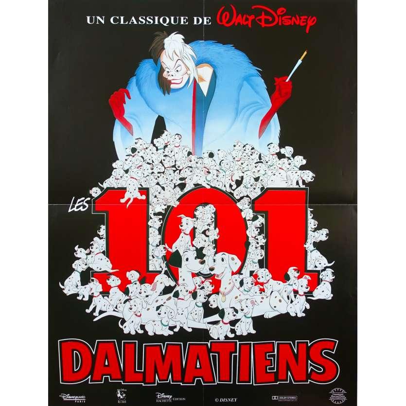101 DALMATIANS French Movie Poster 15x21 R80 Walt Disney Classic
