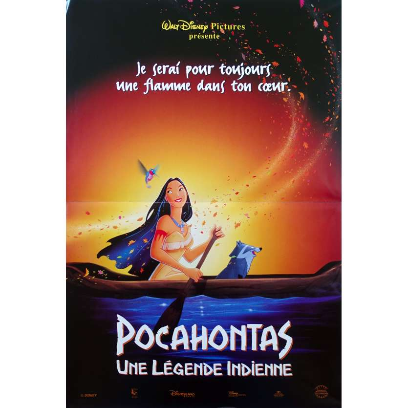POCAHONTAS French Movie Poster 15x21 '95 Walt Disney Classic