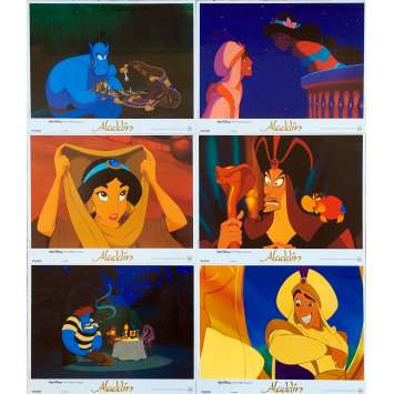 ALADDIN Photos de film x6 - 21x30 cm. - 1992 - Robin Williams, Walt Disney