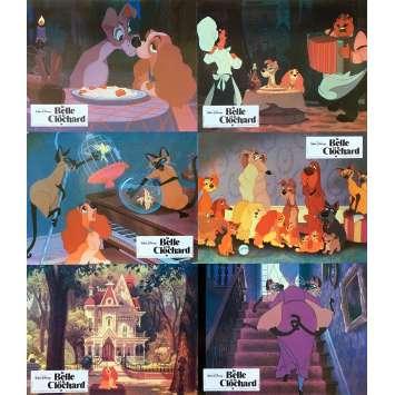 BELLE ET LE CLOCHARD Photos de film x6 - 21x30 cm. - 1955 - Peggy Lee, Walt Disney