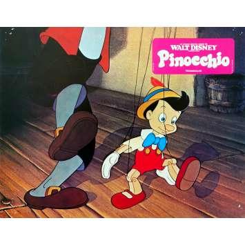PINOCCHIO Original Lobby Card N05 - 9x12 in. - R1970 - Disney, Mel Blanc