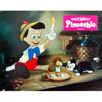 PINOCCHIO Original Lobby Card N03 - 9x12 in. - R1970 - Disney, Mel Blanc