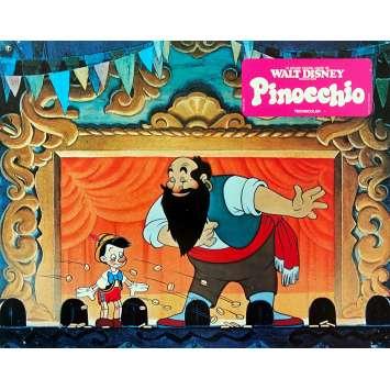 PINOCCHIO Original Lobby Card N02 - 9x12 in. - R1970 - Disney, Mel Blanc