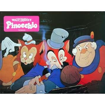 PINOCCHIO Original Lobby Card N01 - 9x12 in. - R1970 - Disney, Mel Blanc