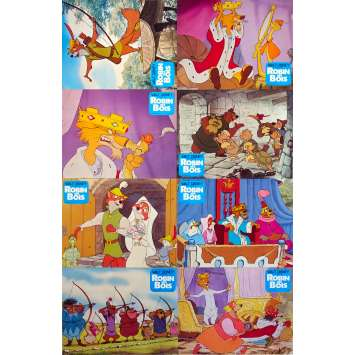 DISNEY'S ROBIN HOOD Original Lobby Cards Set A - x8 - 10x12 in. - 1973 - Walt Disney, Brian Beford