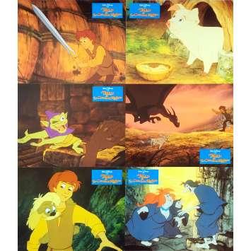 THE BLACK CAULDRON Original Lobby Cards x6 - 9x12 in. - 1985 - Walt Disney, Freddie Jones