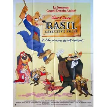 THE GREAT MOUSE DETECTIVE Original Movie Poster - 47x63 in. - 1986 - Walt Disney, Vincent Price