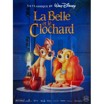 BELLE ET LE CLOCHARD Affiche de film - 120x160 cm. - R1980 - Peggy Lee, Walt Disney
