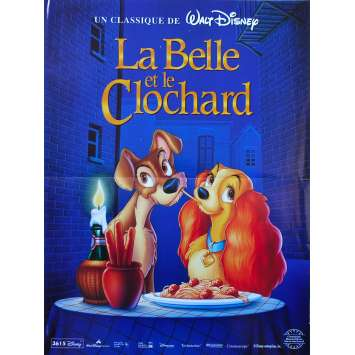 BELLE ET LE CLOCHARD Affiche de film - 40x60 cm. - R1980 - Peggy Lee, Walt Disney