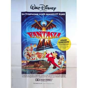 FANTASIA Affiche de film - 120x160 cm. - R1980 - Deems Taylor, Walt Disney