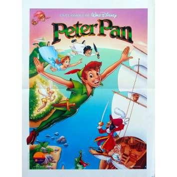 PETER PAN Affiche de film - 40x60 cm. - R1990 - Bobby Driscoll, Walt Disney