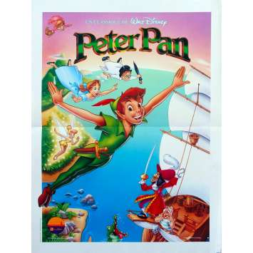 PETER PAN Original Movie Poster - 15x21 in. - R1990 - Walt Disney, Bobby Driscoll