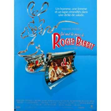 WHO FRAMED ROGER RABBIT Original Movie Poster - 15x21 in. - 1988 - Robert Zemeckis, Bob Hoskins, Christopher Lloyd
