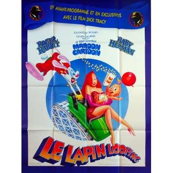 ROGER RABBIT - LE LAPIN LOOPING Affiche de film - 120x160 cm. - 1990 - Kathleen Turner, Frank Marshall