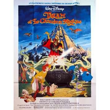 TARAM ET LE CHAUDRON MAGIQUE Affiche de film - 120x160 cm. - 1985 - Freddie Jones, Walt Disney