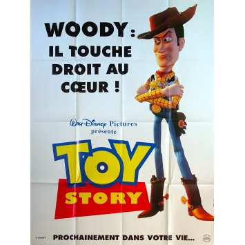 TOY STORY Affiche de film Prev - Woody - 120x160 cm. - 1995 - Tom Hanks, Pixar