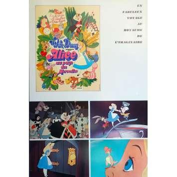 ALICE AU PAYS DES MERVEILLES Synopsis - 18x24 cm. - R1970 - Ed Wynn, Walt Disney