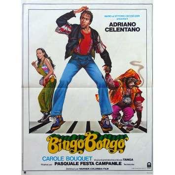 BINGO BONGO Affiche de film - 40x60 cm. - 1982 - Adriano Celentano, Carole Bouquet, Pasquale Festa Campanile