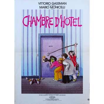CHAMBRE D'HOTEL Affiche de film - 40x60 cm. - 1981 - Vittorio Gassman, Monica Vitti, Mario Monicelli