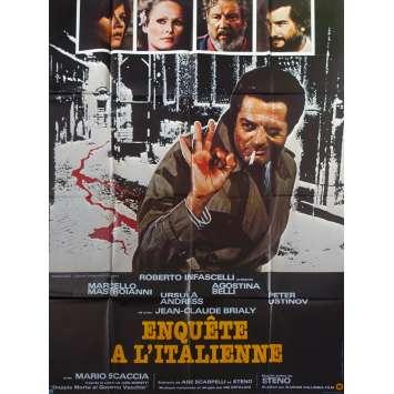 DOUBLE MURDER Original Movie Poster - 47x63 in. - 1977 - Steno, Marcello Mastroianni