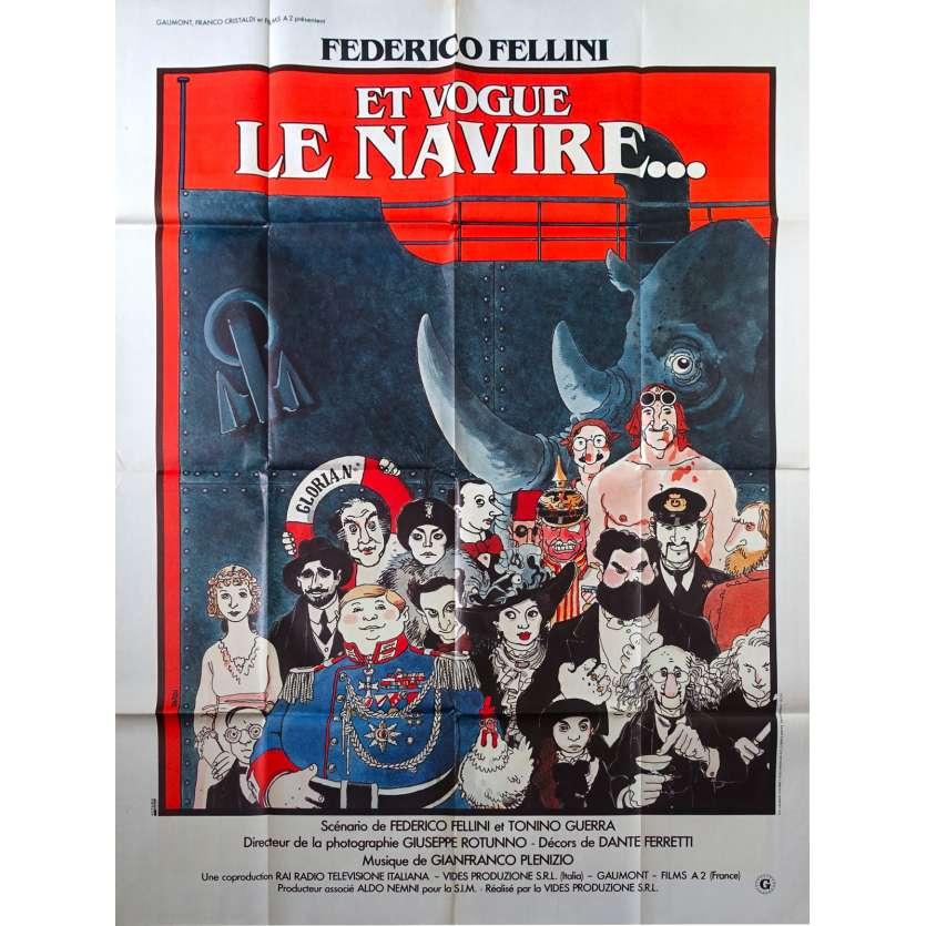 AND THE SHIP SAILS ON Original Movie Poster - 47x63 in. - 1983 - Federico Fellini, Freddie Jones