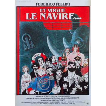 AND THE SHIP SAILS ON Original Movie Poster - 15x21 in. - 1983 - Federico Fellini, Freddie Jones