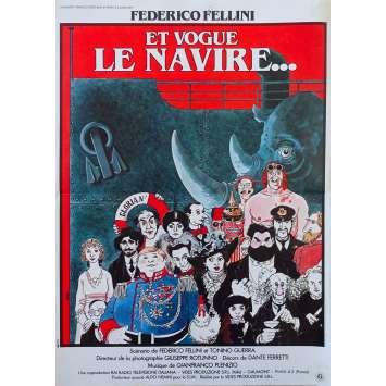 ET VOGUE LE NAVIRE Affiche de film - 40x60 cm. - 1983 - Freddie Jones, Federico Fellini