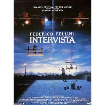 INTERVISTA Affiche de film - 60x80 cm. - 1987 - Sergio Rubini, Federico Fellini