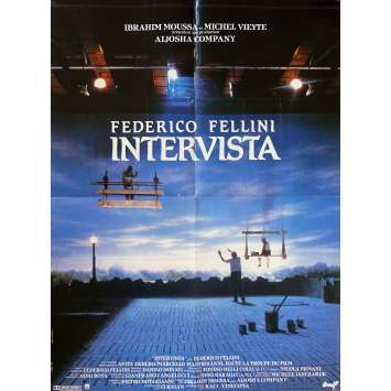 INTERVISTA Original Movie Poster - 23x32 in. - 1987 - Federico Fellini, Sergio Rubini