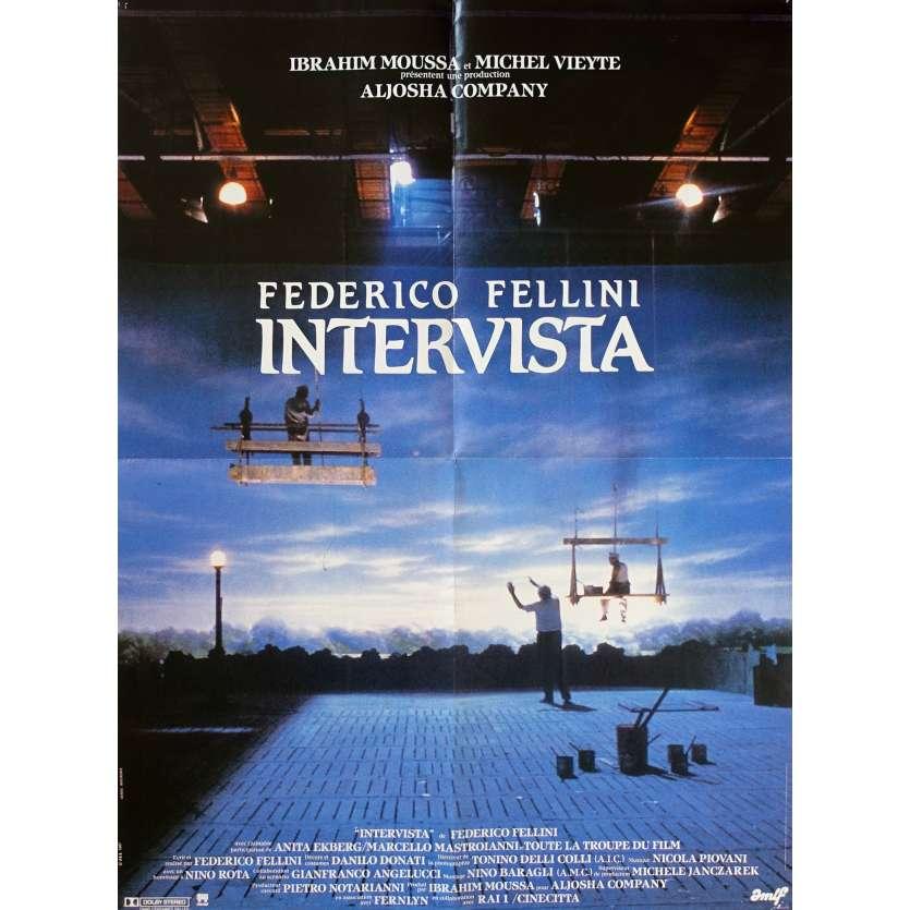 INTERVISTA Original Movie Poster - 23x32 in. - 1987 - Federico Fellini, Sergio Rubini
