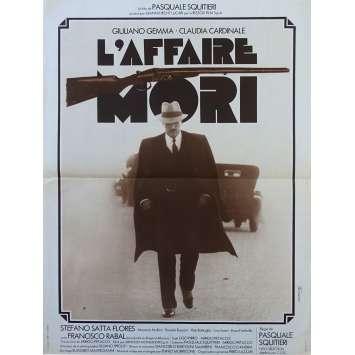 L'AFFAIRE MORI Affiche de film - 40x60 cm. - 1977 - Giuliano Gemma, Claudia Cardinale, Pasquale Squitieri