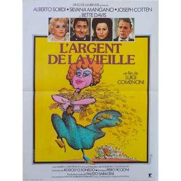 L'ARGENT DE LA VIEILLE Affiche de film - 40x60 cm. - 1972 - Alberto Sordi, Luigi Comencini