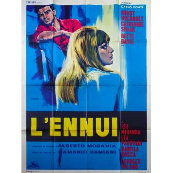 L'ENNUI Affiche de film - 120x160 cm. - 1963 - Bette Davis, Damiano Damiani